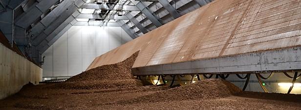 site de stockage de la biomasse d'une capacité de 3500 tonnes (photo actu-environnement)
