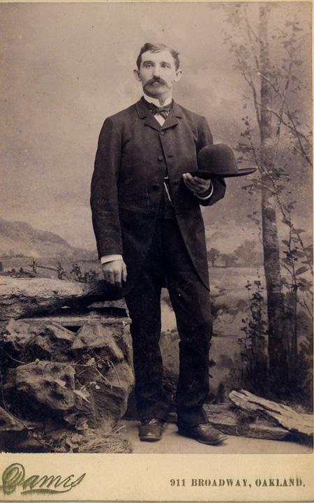 Max Bartl nach seiner Ankunft in Kalifornien, frühe 1880er Jahre