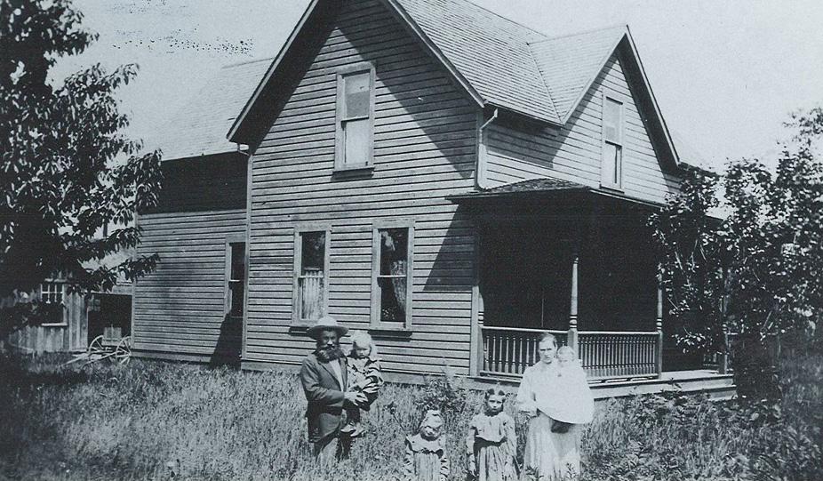 Anton Krätz mit Familie, Arlington 1905