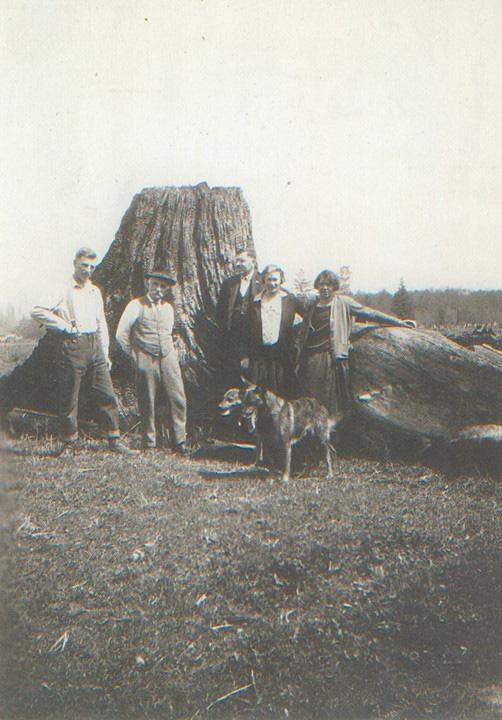 Otto Eitzenberger, Max Eitzenberger, Ludwig Radner, Matilda Strotz, Fredia Radner, 1923