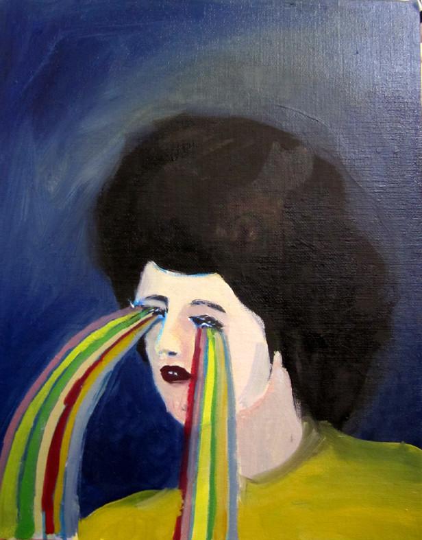 *tears*, acryl und öl, ca. 27x36 cm