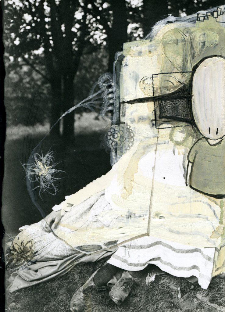 acryl auf fotografie, 2004