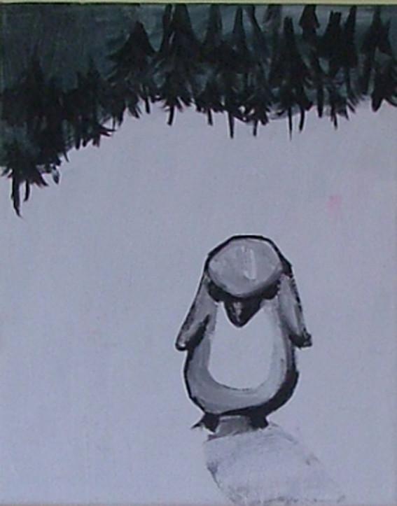 *sauer1*, acryl auf leinwand, ca. 21x30 cm, 2007