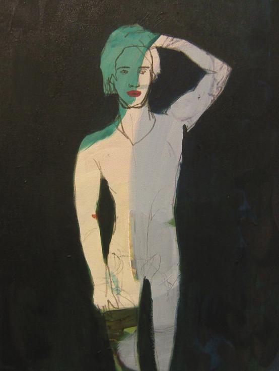 *ohne titel*, acryl auf leinwand, ca.21x30 cm