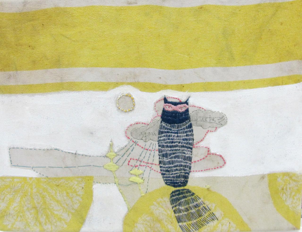 *desert*, stickerei udn acryl auf geschirrtusch, ca. 21x27 cm