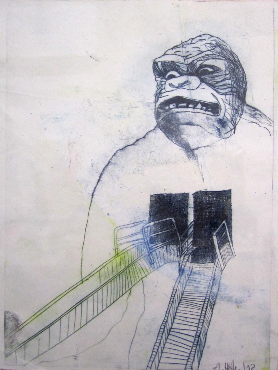 *blackholeheart*, radierung, ca. 12x22 cm