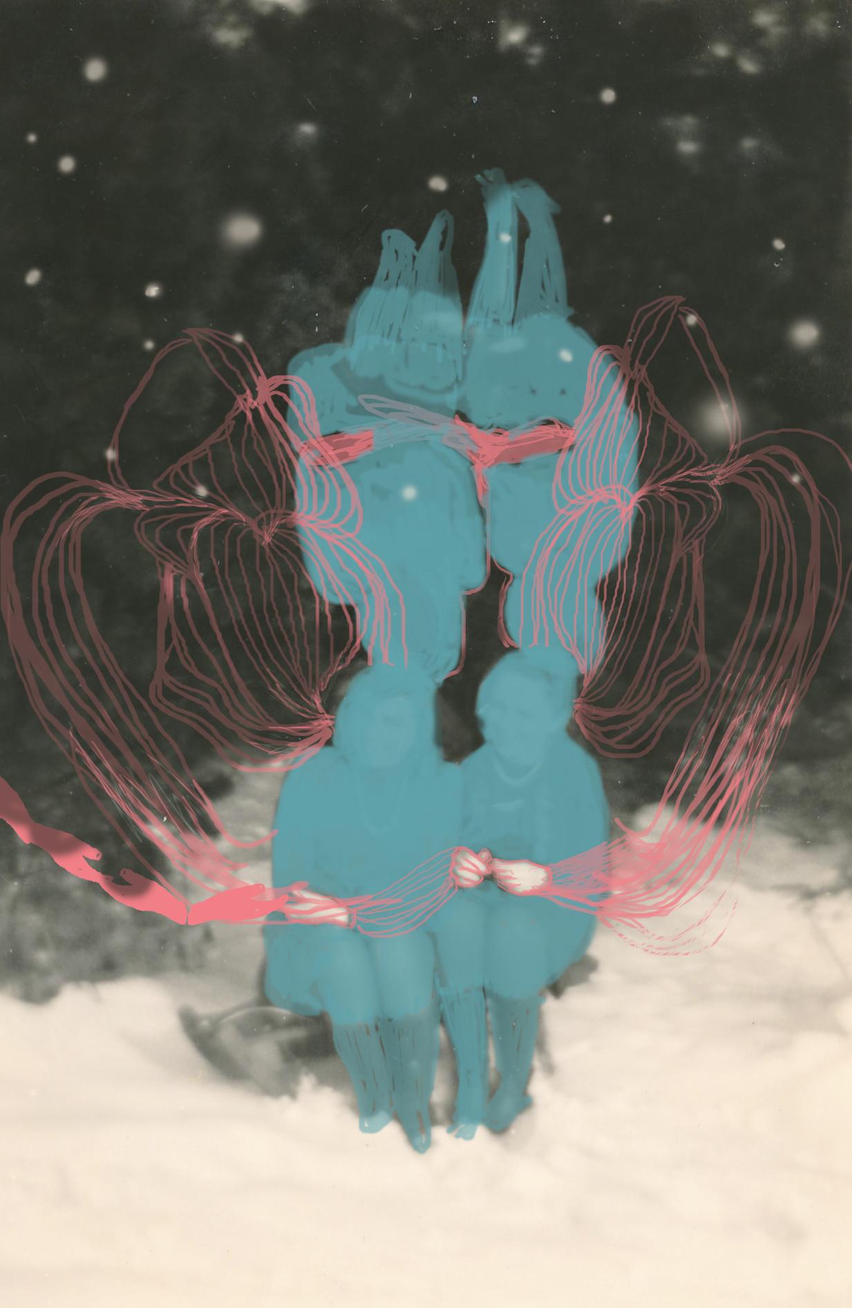 Album, digitale Zeichnung auf Fotografie, 2020