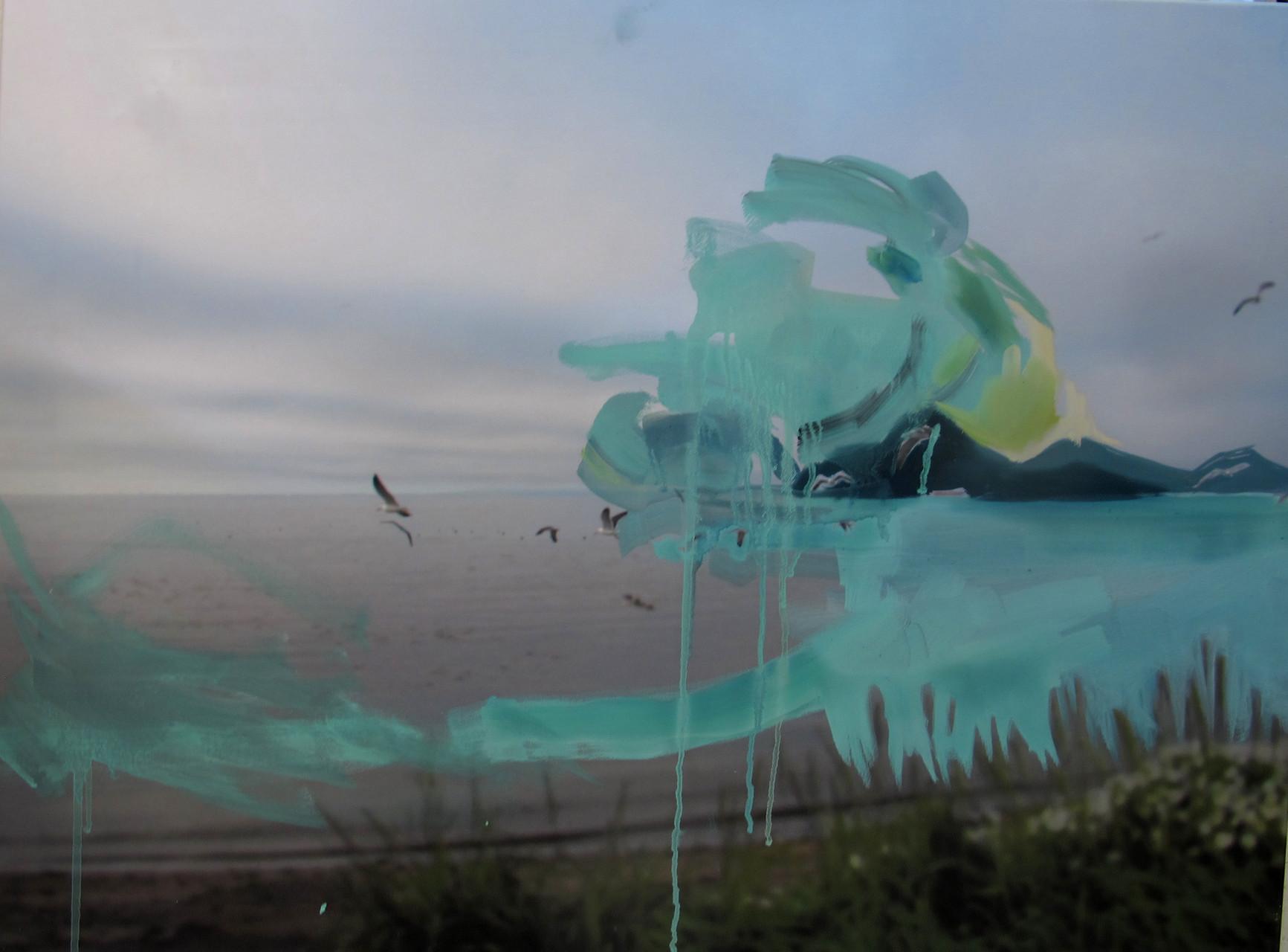 """iceland"",öl auf fotoleinwand, ca. 50x70 cm"