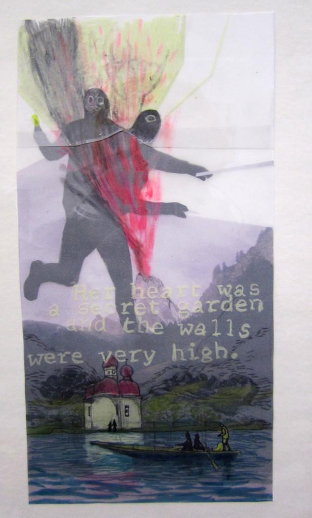 *walls*,  collage und zeichnung auf papier, ca. 18x33 cm