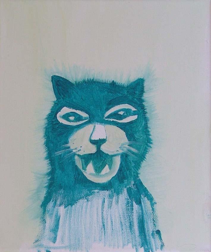 *smile*, acryl auf leinwand, ca. 21x30 cm, 2007