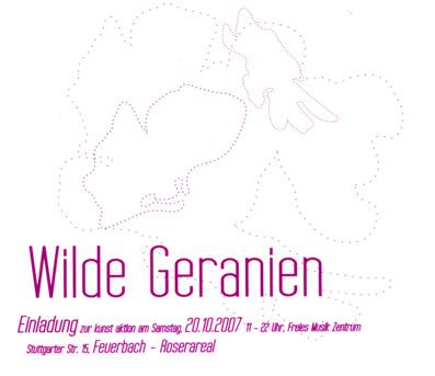 WILDE GERANIEN // Ausstellung // Feuerbach 07