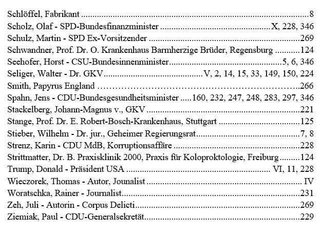 Personenregister-3 - Das GKV Lügen und Rechtsbruch Kartell in der deutschen Staatsverwaltung