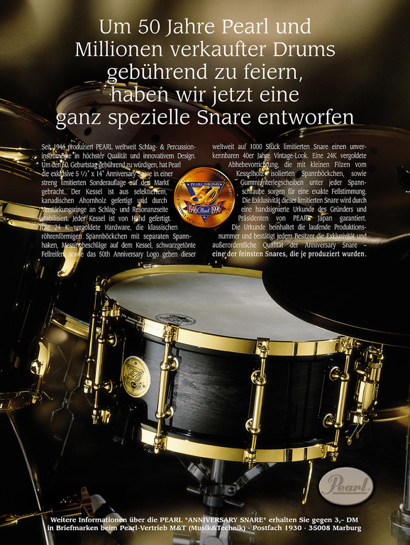 PEARL Drums 50th Anniversary Anzeige