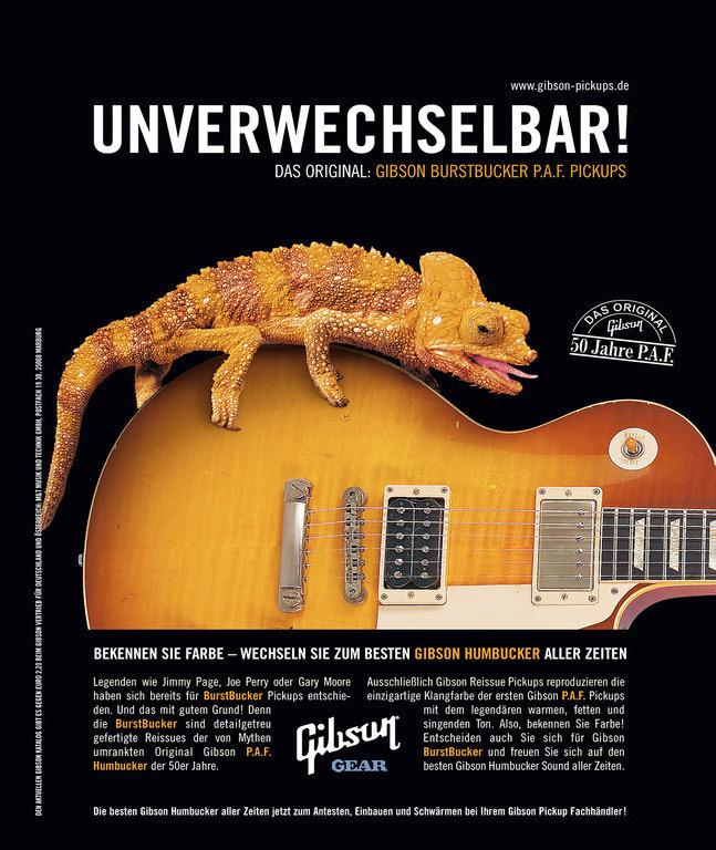 Gibson Gear Anzeige