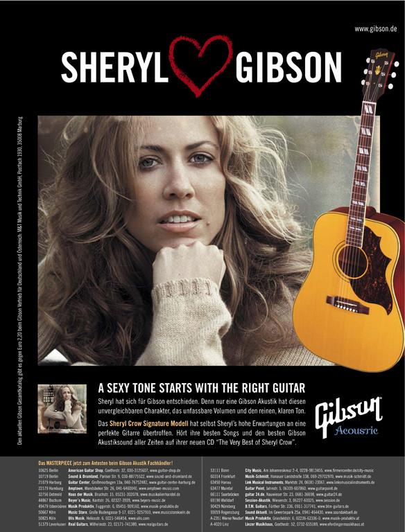 GIBSON Acoustic  - Sheryl Crow