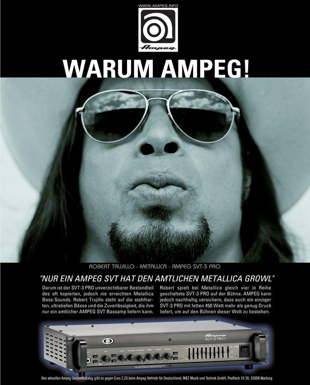 """Ampeg """"Warum Ampeg"""" Metallica"""