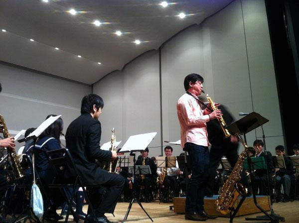 田中靖人氏、リハーサル中。