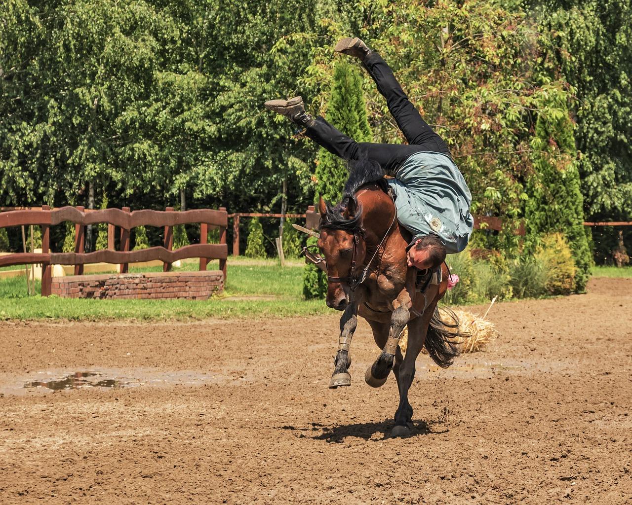 Verlies van controle tijdens paardrijden, een van de grootste angsten bij ruiters