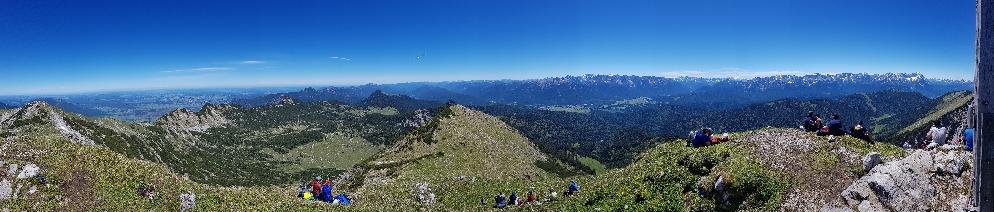 Gipfelpanorama des Krottenkopf