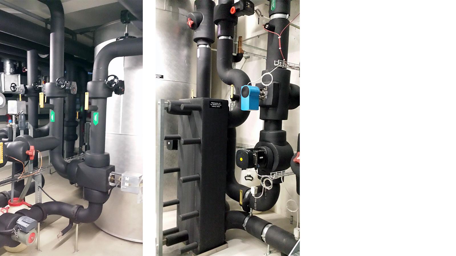 Plattentauscher mit Verteilungsanlage Armaflex isoliert