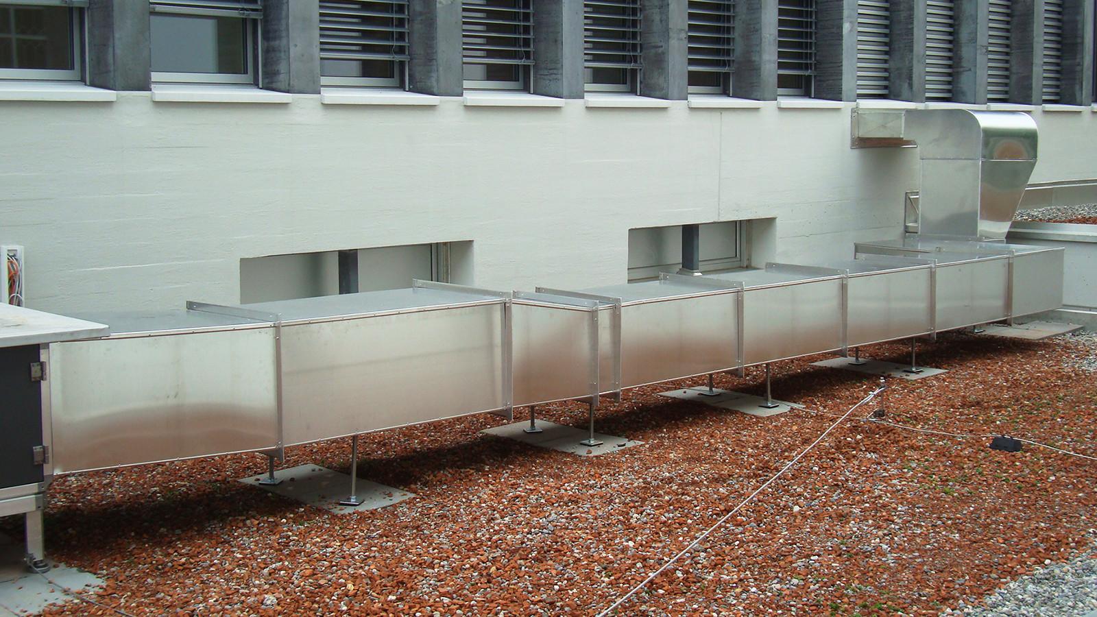 Lüftungs- und Klimaanlage thermisch isoliert, Alu glatt