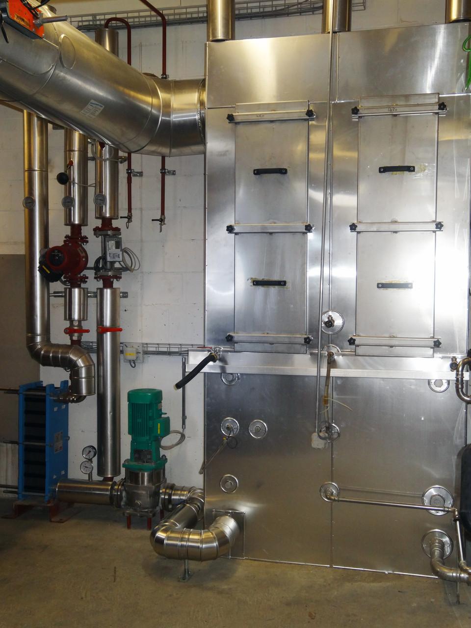 Abluftwaschanlage, Brandschutz an Schnitzelheizung