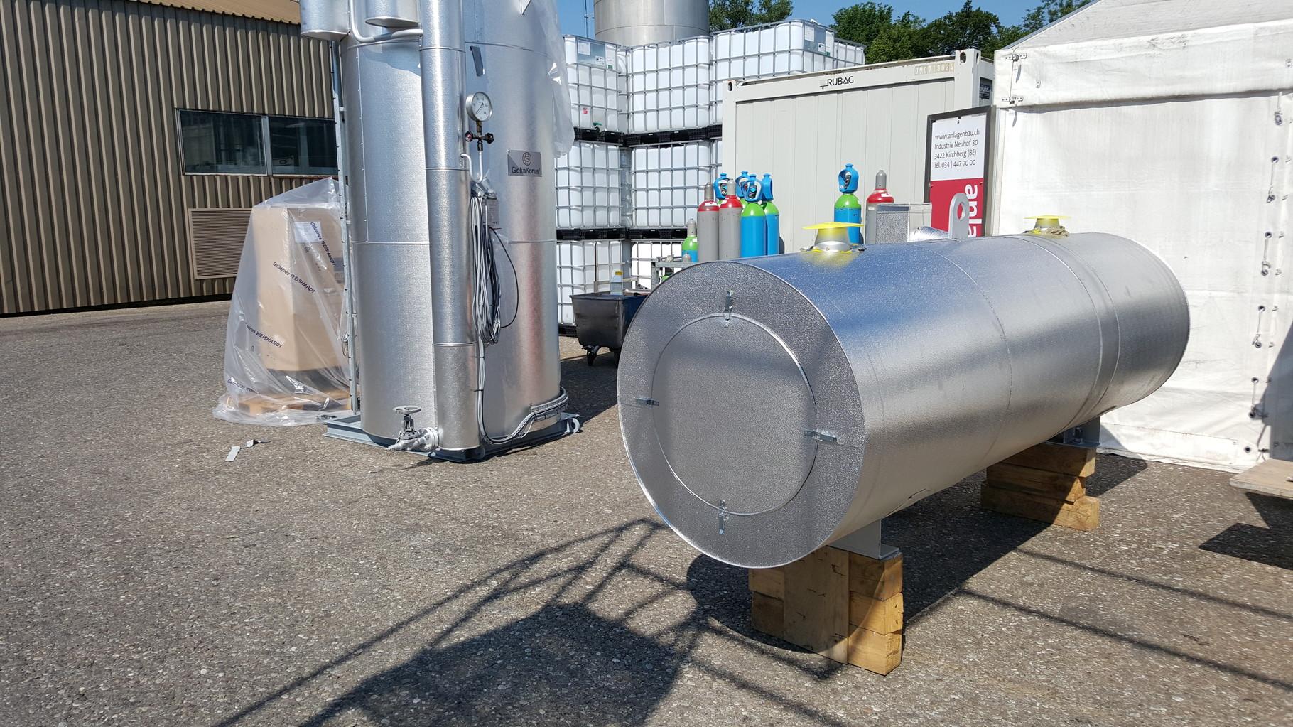 Dampfdruckbehälter nach der Isolation
