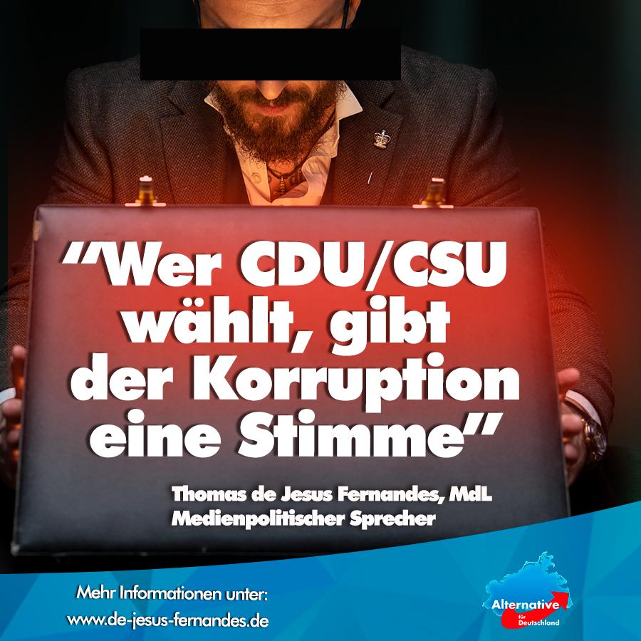 +++ Wer CDU/CSU eine Stimme gibt - wählt Korruption! +++