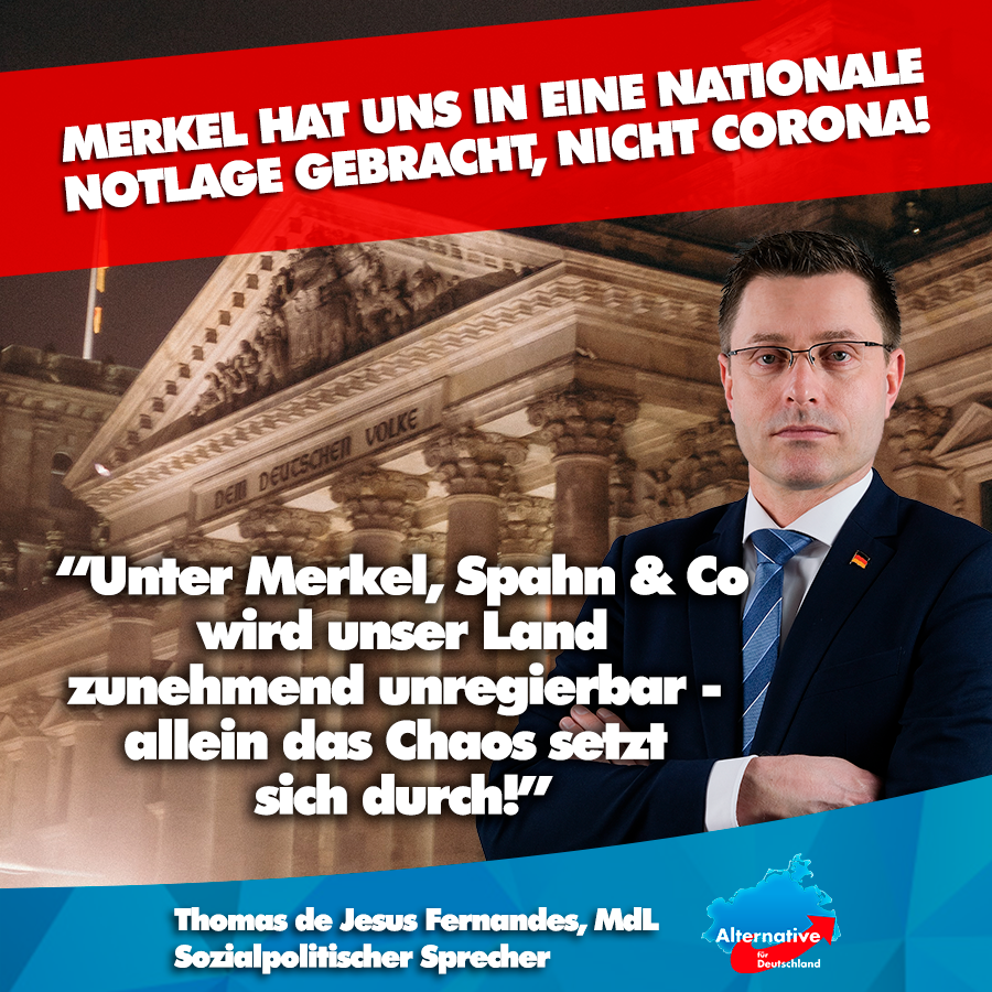 +++ NEIN ZUM MEGALOCKDOWN - Merkel hat uns in eine nationale Notlage gebracht, nicht Corona! +++