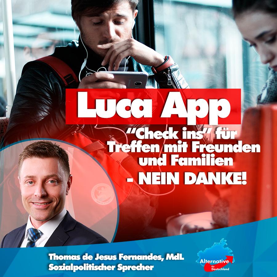 """+++ Luca App: """"Check ins"""" für Treffen mit Freunden und Familie - NEIN DANKE! +++"""