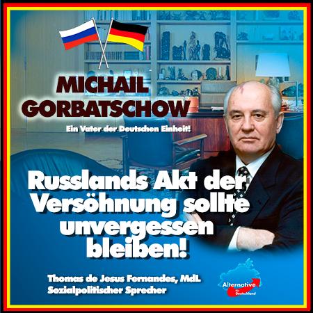 +++ Michail Gorbatschow wird 90 Jahre –  Ein Vater der Wiedervereinigung & Versöhnung +++