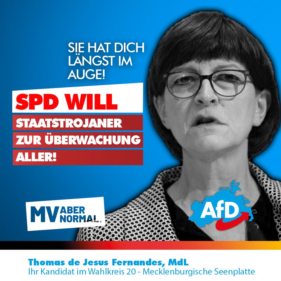 +++ SPD will allumfassenden Überwachungsstaat installieren – Staatstrojaner und Überwachung für alle soll kommen!! +++