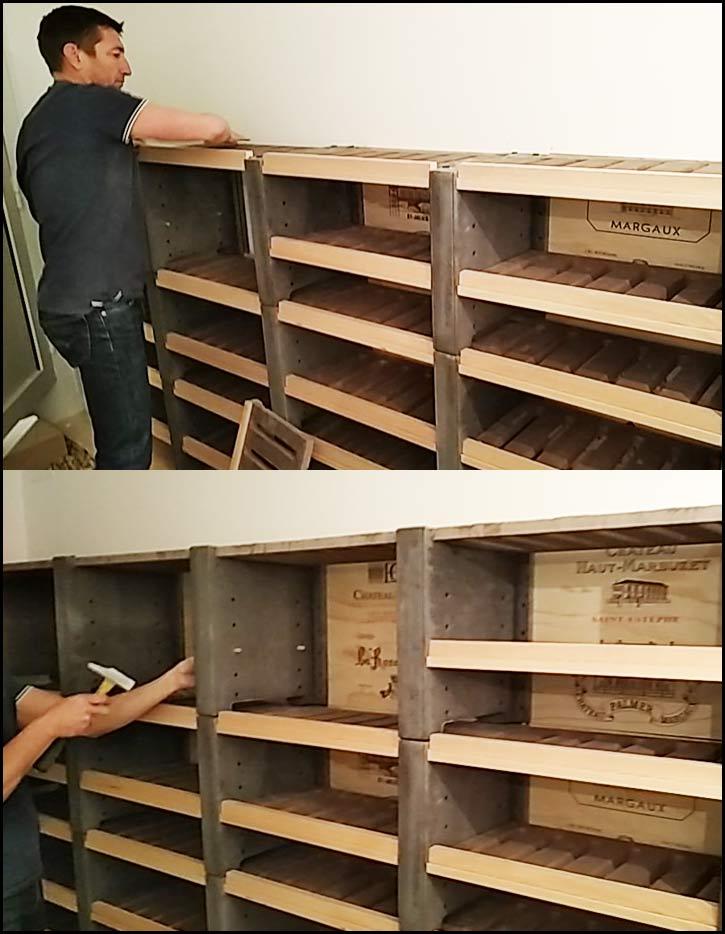 Etape 14: La procédure d'installation est répétée pour le montage de toutes les rangées