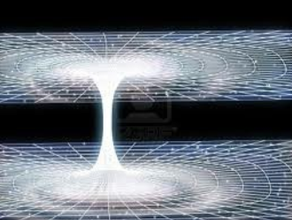Un trou noir (ou trou de ver) permettant de passer  d'une ligne temporelle à une autre.