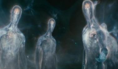 Exemple d'entités aliens évoluant en 4e dimension