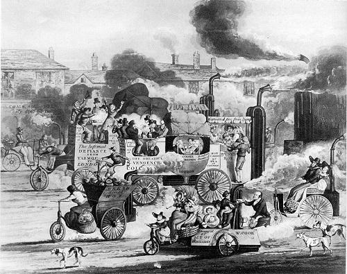 ヘンリー・トーマス・アルケン画 『ホワイトチャペル・ロードの風景』(1831年)