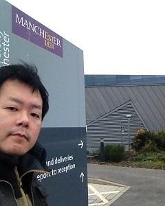 英国原子力関係施設が集中するセラフィールド地域にあるダルトン原子力研究所を訪問(2014年英国マンチェスター大学ビジネススクールに留学中)