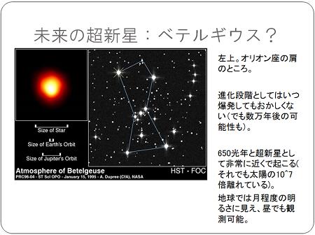 未来の超新星:べテルギウス?