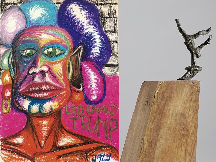 Malerei trifft Skulptur