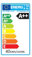 Energielabel A++ 40W