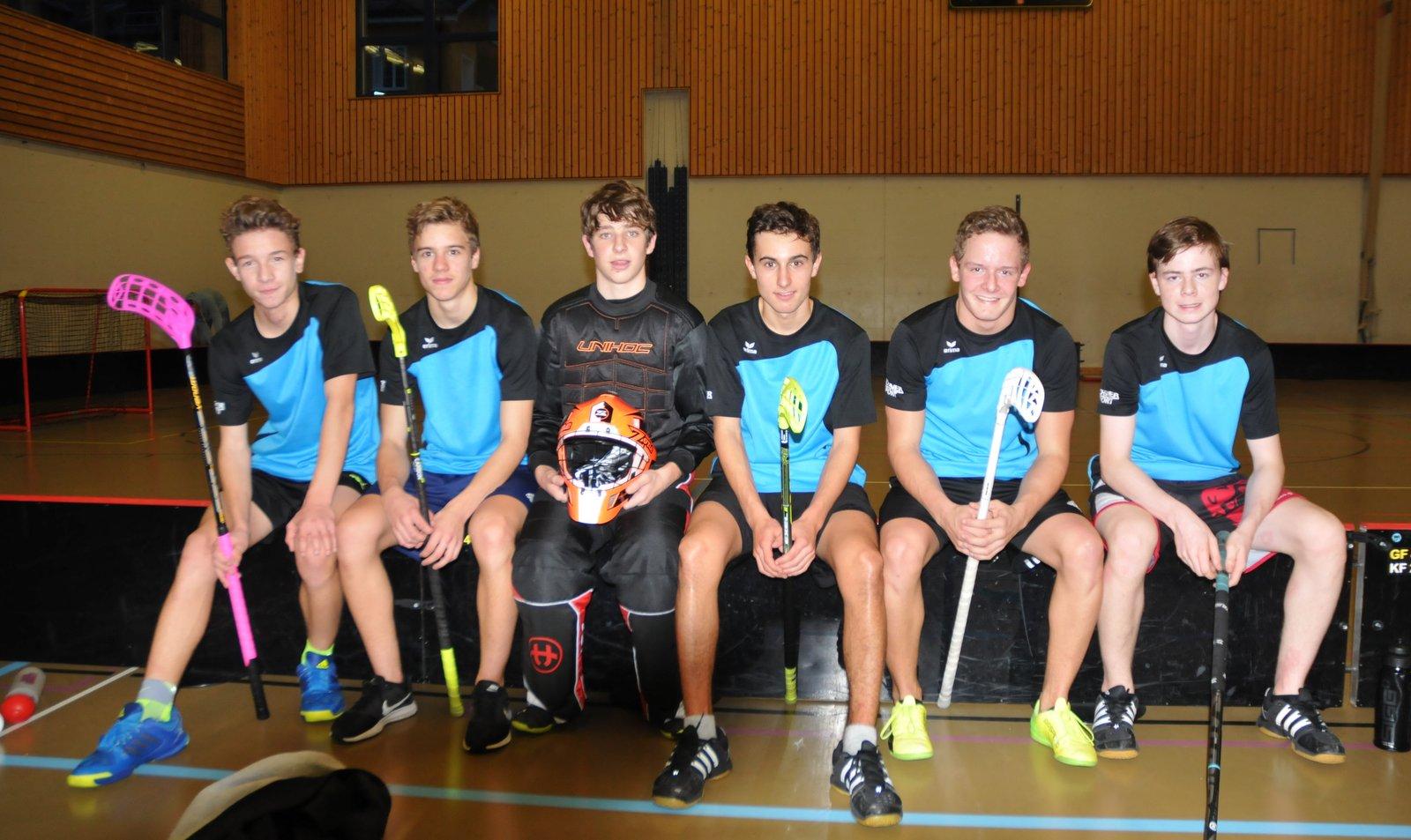 Das Siegerteam im Unihockey der Knaben aus Näfels