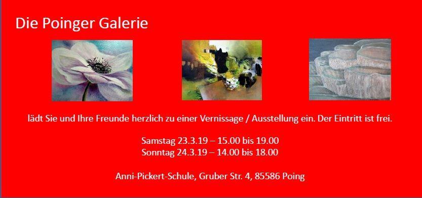 Kunstausstellung Poinger Galerie 2019