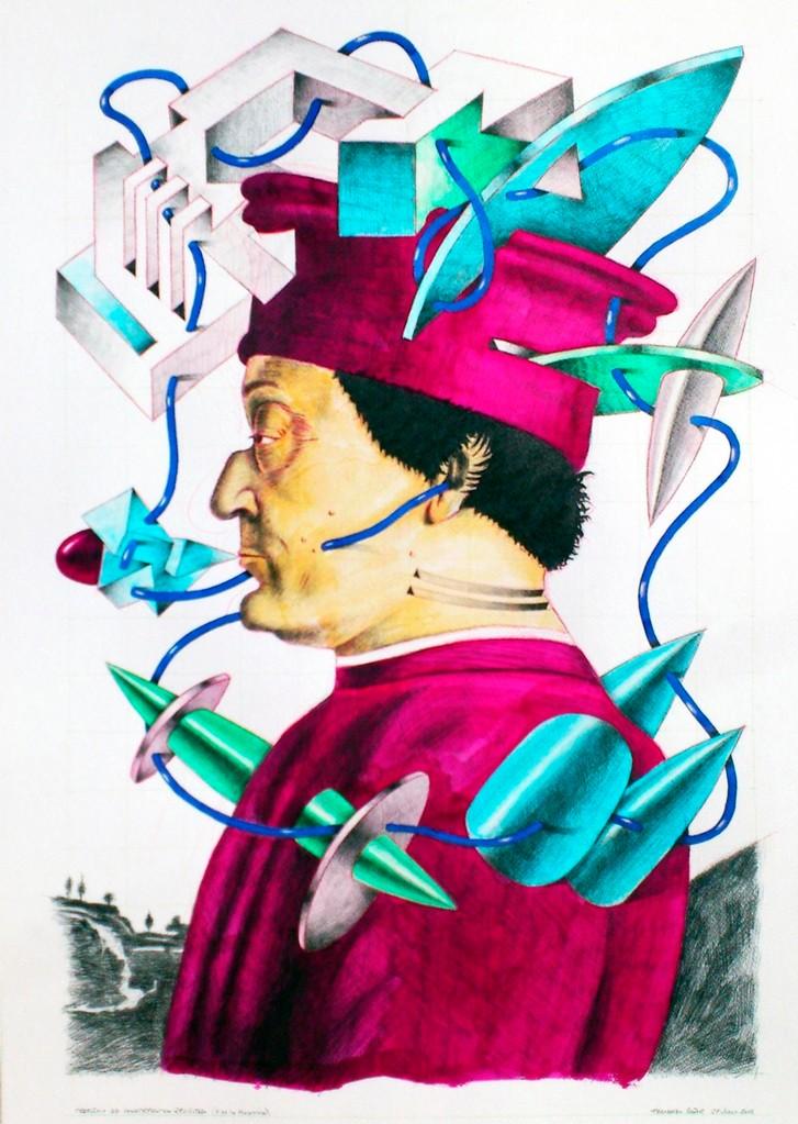 Federico de Montefeltro. Acuarela y grafito s/papel. 50x35. 2012