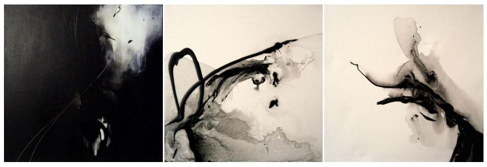Gestual Niké. Acrílico s/lienzo. 30x30 ud