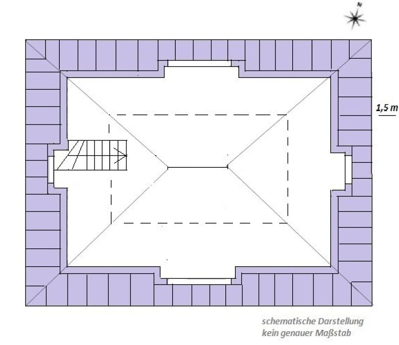 Skizze II obere Etage Dachgeschoss Maisonette