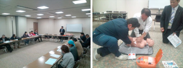 AED講習会の実施(平成23年11月実施)