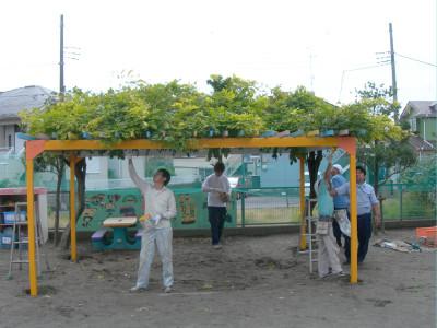 ボランティア活動(大沼保育園 平成23年10月実施)