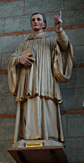 The statue of Saint Leonard