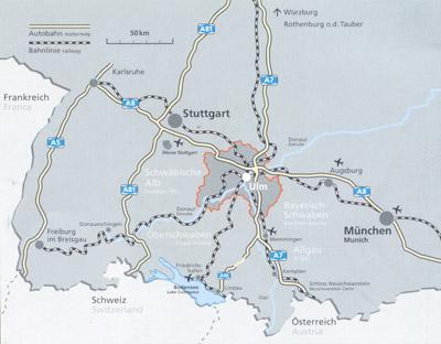 Map of Ulm (Karte Ulm)