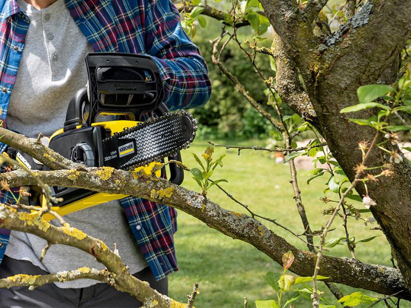Gehölze und Büsche schneiden (Foto Copyright Kärcher)